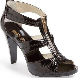 Michael Kors,Berkley Patent Leather T-Strap Heels